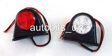 2 x SIDE MARKER OUTLINE LED LIGHT LAMP WHITE RED  24 VOLT TRAILER TRUCK LORRY