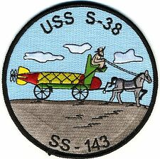 USS S-38 SS 143 - 4.5 inch FE Horse Drawn Carriage carrying BCPatch Cat No C6685