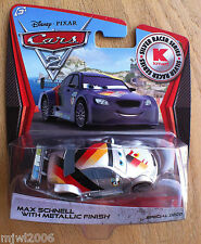 Disney PIXAR Cars 2 SILVER RACER SERIES Kmart MAX SCHNELL METALLIC FINISH