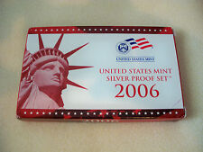 2006 U.S. MINT SILVER PROOF SET WITH BOX AND COA FROM ORIGINAL OWNER!
