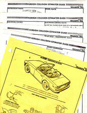 TRIUMPH TR6 TR 6 BODY PARTS LIST FRAME RARE ORIGINAL CRASH SHEETS MF 2
