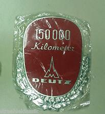 ORIGINALE VECCHIA Magirus Deutz 150000km molto conducente Metallo Placca caratterizzato laccato