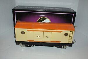 MTH Standard Gauge 214 Tinplate Traditions Boxcar (Cream & Orange w/Brass Trim)