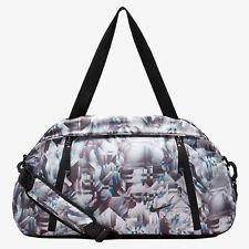 Nike Auralux Print Club Training Gym Travel Duffel Bag Black White Blue Tote New