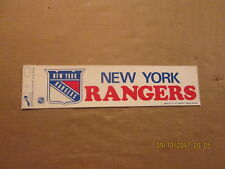 NHL New York Rangers Vintage Circa 1980's Logo Hockey Bumper Sticker