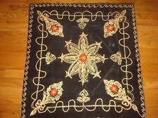 """33.5"""" x 32.5""""  EMBROIDERED TABLECLOTH"""