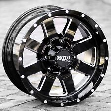 20x9 BLACK milled wheels rims MOTO METAL 962 2007-2019 TOYOTA TUNDRA 5x150 +0mm