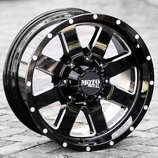 20x9 BLACK wheels MOTO METAL 962 2011-2017 CHEVY GMC 2500 3500 Trucks 8X180 +0mm