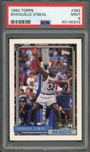 1992 Topps Shaquille Oneal RC Rookie PSA 9 Mint #362