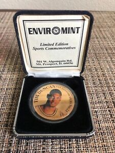 Tim Duncan Limited Edition Enviromint Rookie Fine Bronze Coin /1,997