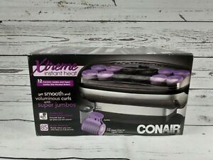 Conair Heat Waves for Big and Silky Curls 12 Rollers 2 Sizes 85 Second Open Box