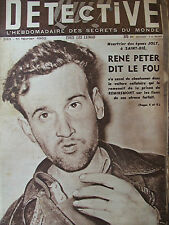 Détective n°293 (11 fév 1952) René Peter - Hold up de Sedan - Albert Dedieu