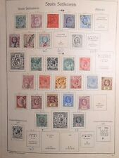 Page of Straits Settlements King Edward Vii postage stamp 1905-1932