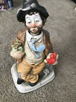 Vintage Waco Melody Motion Hand Painted Porcelain Clown Music Box
