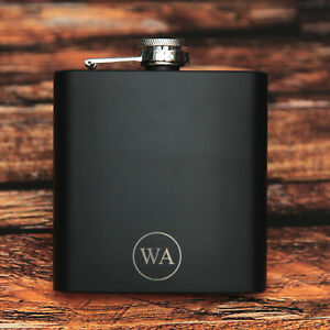 Hip Flask Personalised Monogram Initials Engraved WOW !!