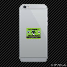 Zombie Delaware State Hunting Permit Cell Phone Sticker Mobile DE