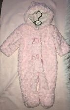 Baby Pink Pram-suit 6-9m -9-12m ALL Very Soft Fur With Hood  Beautiful Snowsuit