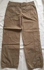 Marks and Spencer Beige 100% Cotton Turn Ups 3/4s Crop Shorts Trousers Size 12