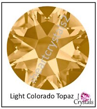 LIGHT COLORADO TOPAZ 36 pcs 20ss 5mm Swarovski Flatback Rhinestones 2088 Xirius