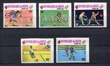 s5789) NIGER 1980 MNH** World Cup Football'82 - CM Calcio 5v IMPERF