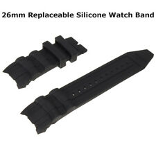 Replaceable Silicone Rubber Watch Band Black for Invicta Pro Diver Collection