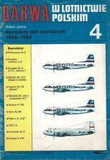 POLISH POST-WAR AIRLINERS 1945-56 LISUNOV ILYUSHIN SNCAC POLSKIE LINIE LOTNICZE