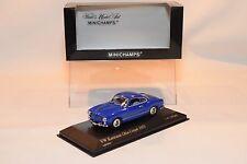 MINICHAMPS VW VOLKSWAGEN KARMANN GHIA COUPE 1955 SAPHIRBLAU BLUE MINT BOXED.