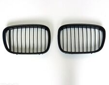 BMW 5 SERIES (E39) 1996-2000 NEW PAIR FRONT GRILLE SET GRILL KIDNEY IN BLACK