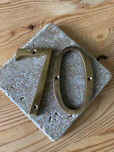 Solid Brass Door Number 70 7.5 cms High