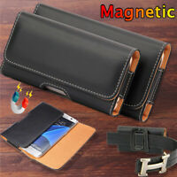 For Xiaomi Redmi Note 7 6 5 Pro 4 Universal Leather Belt Clip Holster Case Cover