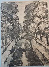 H.Hübner KOHLE Zeichnung SIGNIERT Original Expressionismus Künstler