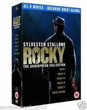 ROCKY COMPLETE COLLECTION MOVIES DVD BOX SET ALL 1 2 3 4 5 6 Film New UK Balboa
