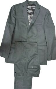 "Polo Ralph Lauren boy's Youth Gray suit set Size 18 R 29"" Waist pant Worn 3 time"