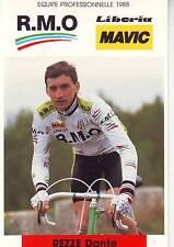 CYCLISME carte cycliste REZZE DANTE équipe R.M.O mavic 1988