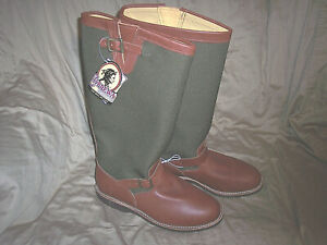 Biker Hunting Snake Boot Neoprene Made in USA Chippewa Mens 7 US Mens Brown Leather Riding Boots