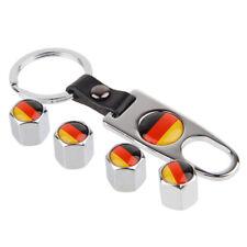 The German Flag Car Tire Valve Dust Stems Air Caps Cover  Keychain Accessories