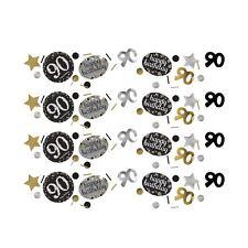 Gold Sparkling Celebration 90th Confetti Birthday Party Table Sprinkles 34g