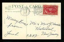 US Postal History #Q1  Parcel Post Postcard 12/23/1913 New York NY Westwood NJ