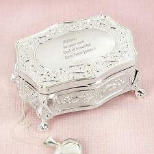 Personalised Any Message Small Antique Jewellery Trinket Box Mother's Day Gifts