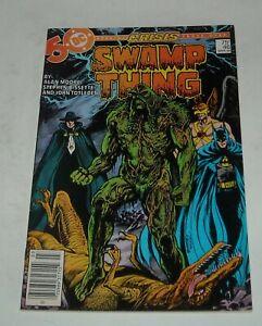 SWAMP THING # 46 DC COMICS March 1986 CRISIS CROSSOVER BATMAN HAWKMAN STRANGER