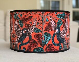 Handmade Lampshade Emma J Shipley Amazon Red Fabric Vivid Jungle Jaguar Parrots