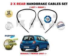 FOR RENAULT TWINGO 2007-2014 NEW 2 X REAR LEFT + RIGHT SIDE HAND BRAKE CABLE SET