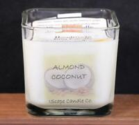 IScape Scented *Almond Coconut* 11 Oz. Square Jar Wood Wick Soy Candle