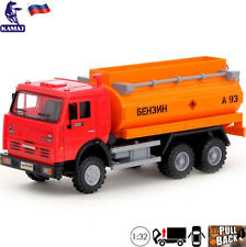 Model Truck Scale 1:32 KamAZ 6520 Tanker Russian Toy Car Light And Sound Effect