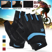 Half Finger Cycling Gloves MTB Bike Bicycle Gel Fingerless Antiskid Cycle Gloves
