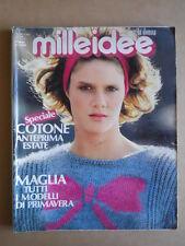 MILLEIDEE n°3 1986 - rivista di moda e lavori femminili  [C56]
