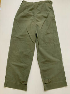 US MILITARY HBT Herringbone Trousers Pants Womens Small 1940s 50s