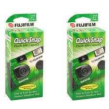 2 Pcs Fujifilm Quicksnap Flash 400 Disposable Single Use 35mm Film Camera  2019