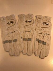 3 All Weather Golf Gloves, Right Hand, Size Medium Large, White, BNIB