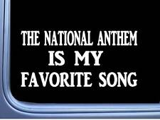 "The National Anthem Favorite Song L559 Decal 8"" Sticker American Flag"